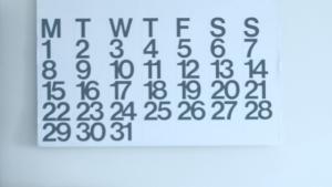 giant wall calendar