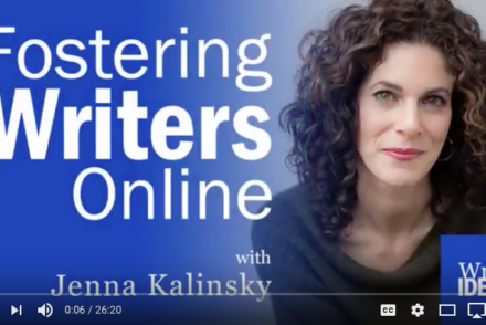 Fostering Writers Online by R.B. Young with Jenna Kalinsky for One Lit Place at onelitplace.com