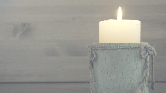 A candle.