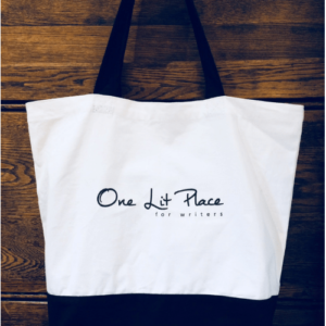 OLP large tote bag at One Lit Place for onelitplace.com