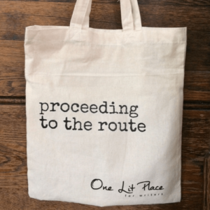 Proceeding to the route tote bag at One Lit Place for onelitplace.com