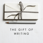 giving gift of writing at One Lit Place for onelitplace.com