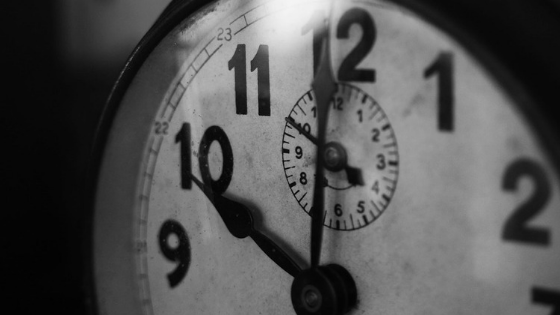 clock black and white for The Blogshop self-guided course at One Lit Place at onelitplace.com